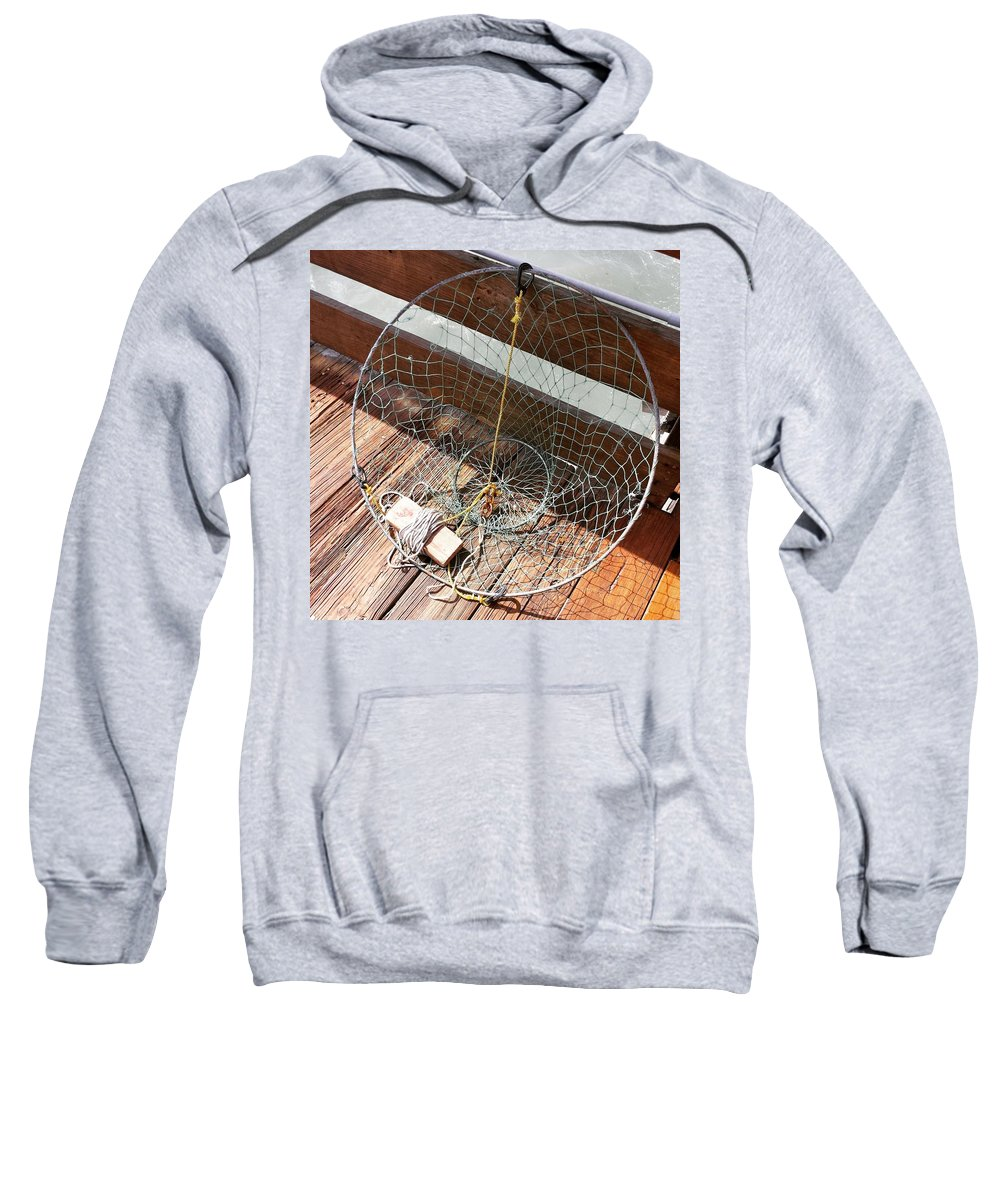 Fishing Sweatshirt featuring the photograph The Net by Kimberly Reeger