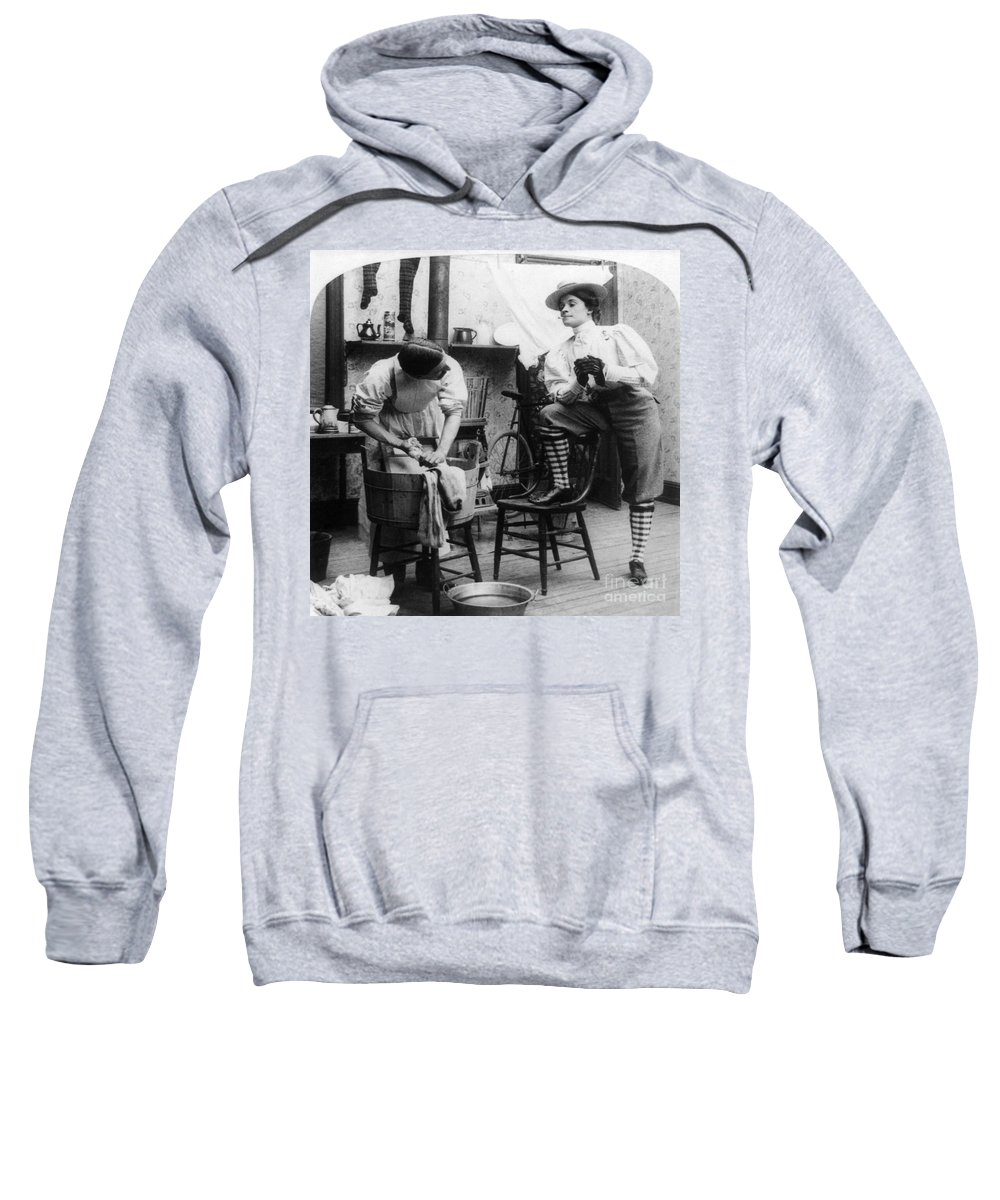 1897 Sweatshirt featuring the photograph The New Woman, C1897 by Granger