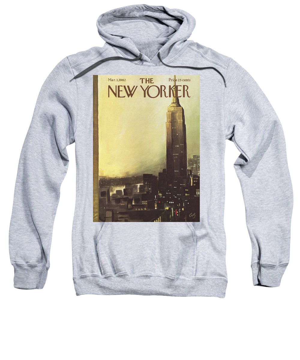 Arthur Sweatshirt featuring the painting The New Yorker Cover - March 3rd, 1962 by Arthur Getz