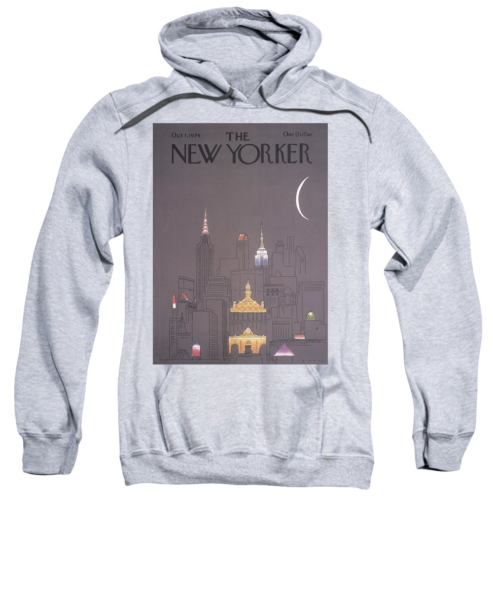 Urban Sweatshirt featuring the drawing New Yorker October 1st, 1979 by RO Blechman