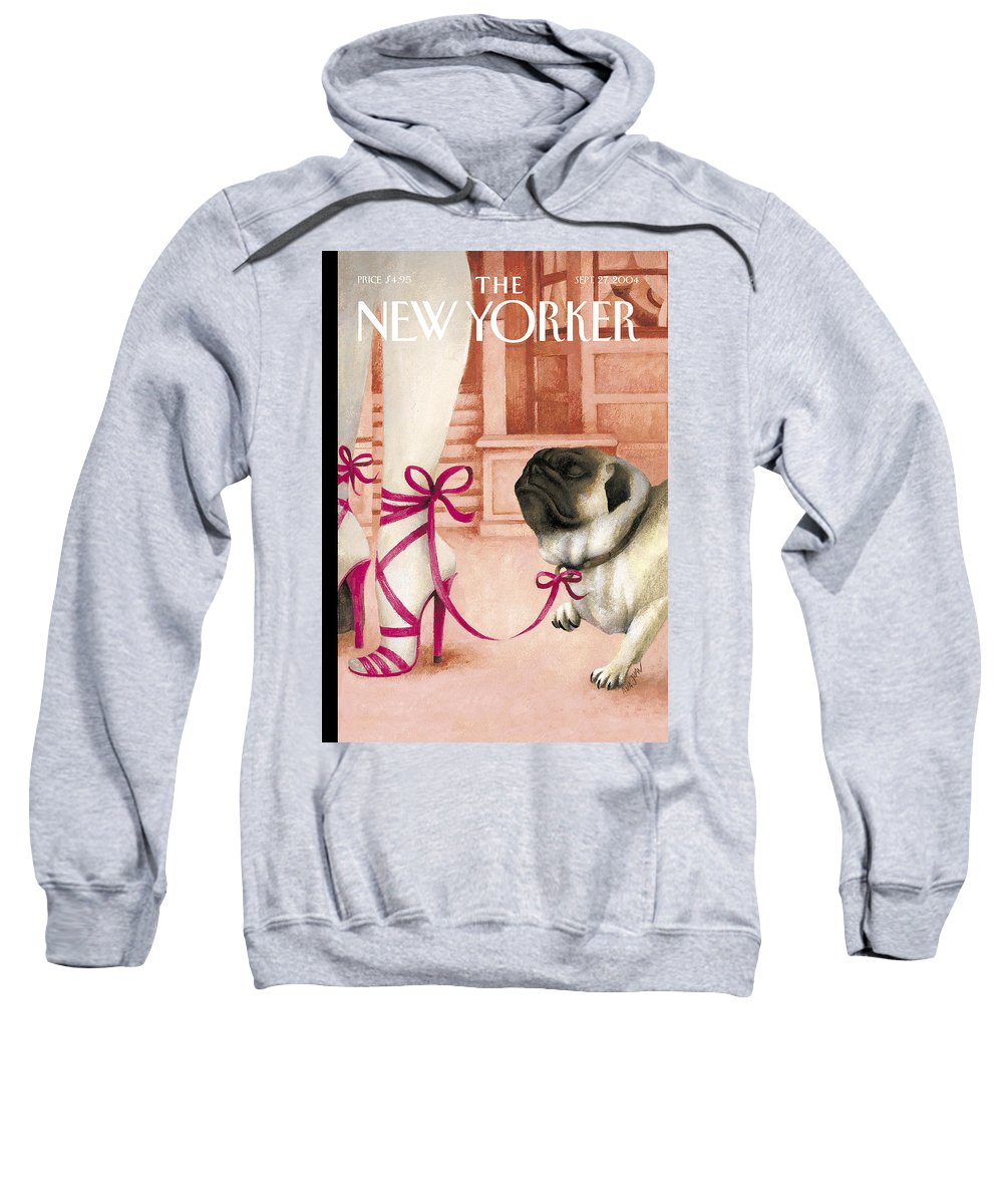Brought Sweatshirt featuring the painting The New Yorker Cover - September 27th, 2004 by Ana Juan