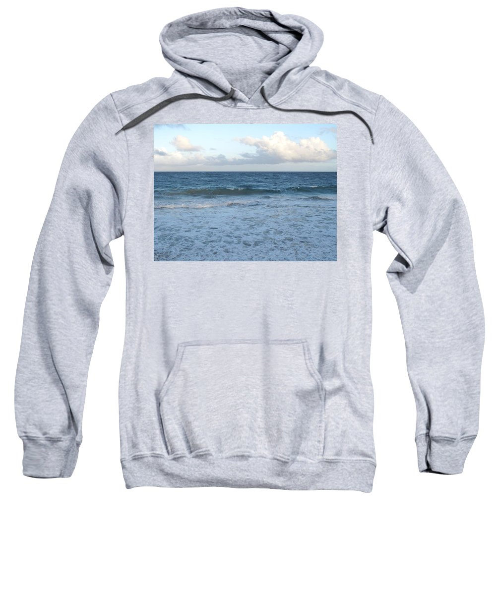 Surf Sweatshirt featuring the photograph The Next Wave by Ian MacDonald