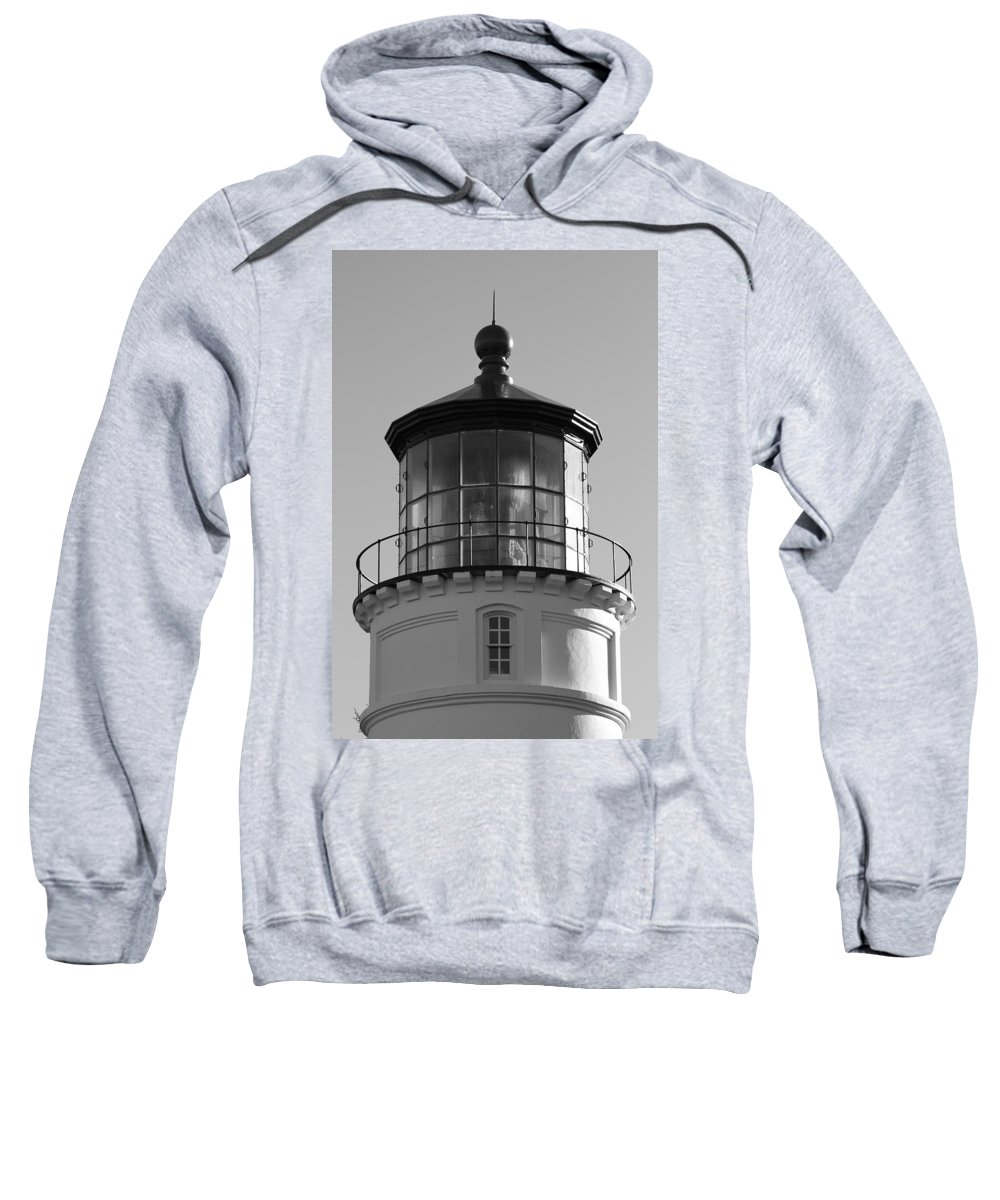 Lighthouse Sweatshirt featuring the photograph The Night Light by Laddie Halupa