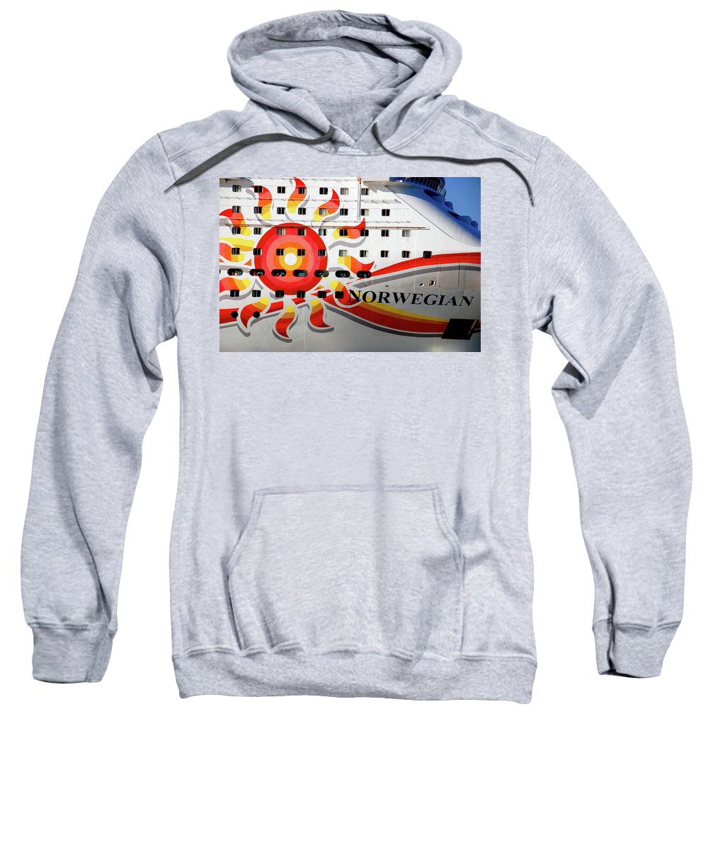 Heading South Sweatshirt featuring the photograph The Norwegian Sun Bow by Susanne Van Hulst