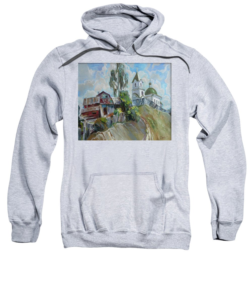Oil Sweatshirt featuring the painting The Old And New by Sergey Ignatenko