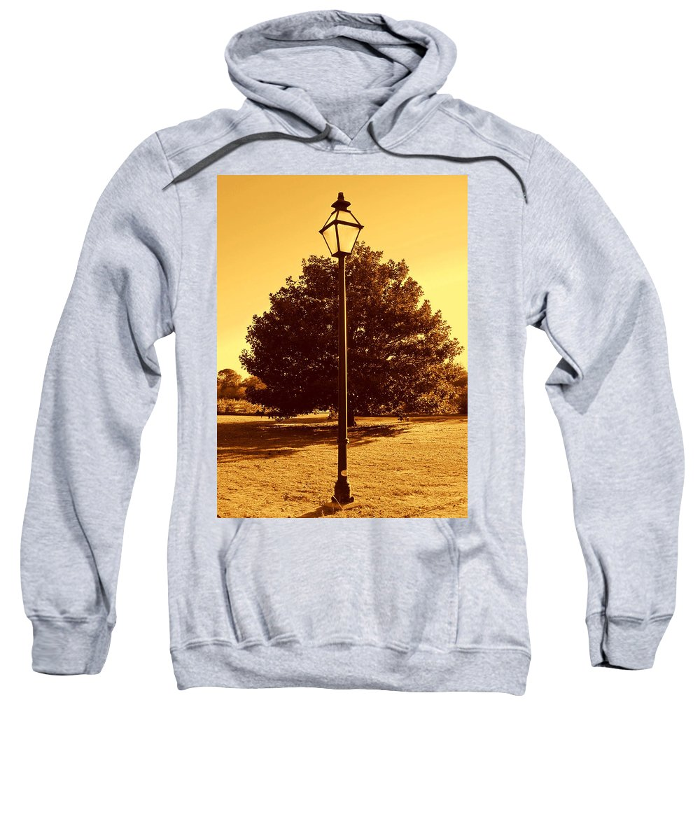 Photography Sweatshirt featuring the photograph The Old Lantern In The Park by Susanne Van Hulst