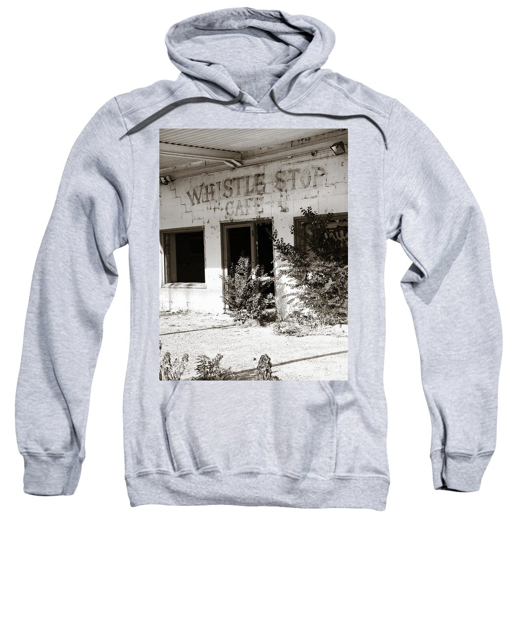 Whistle Stop Cafe Sweatshirt featuring the photograph The Old Whistle Stop Cafe by Marilyn Hunt