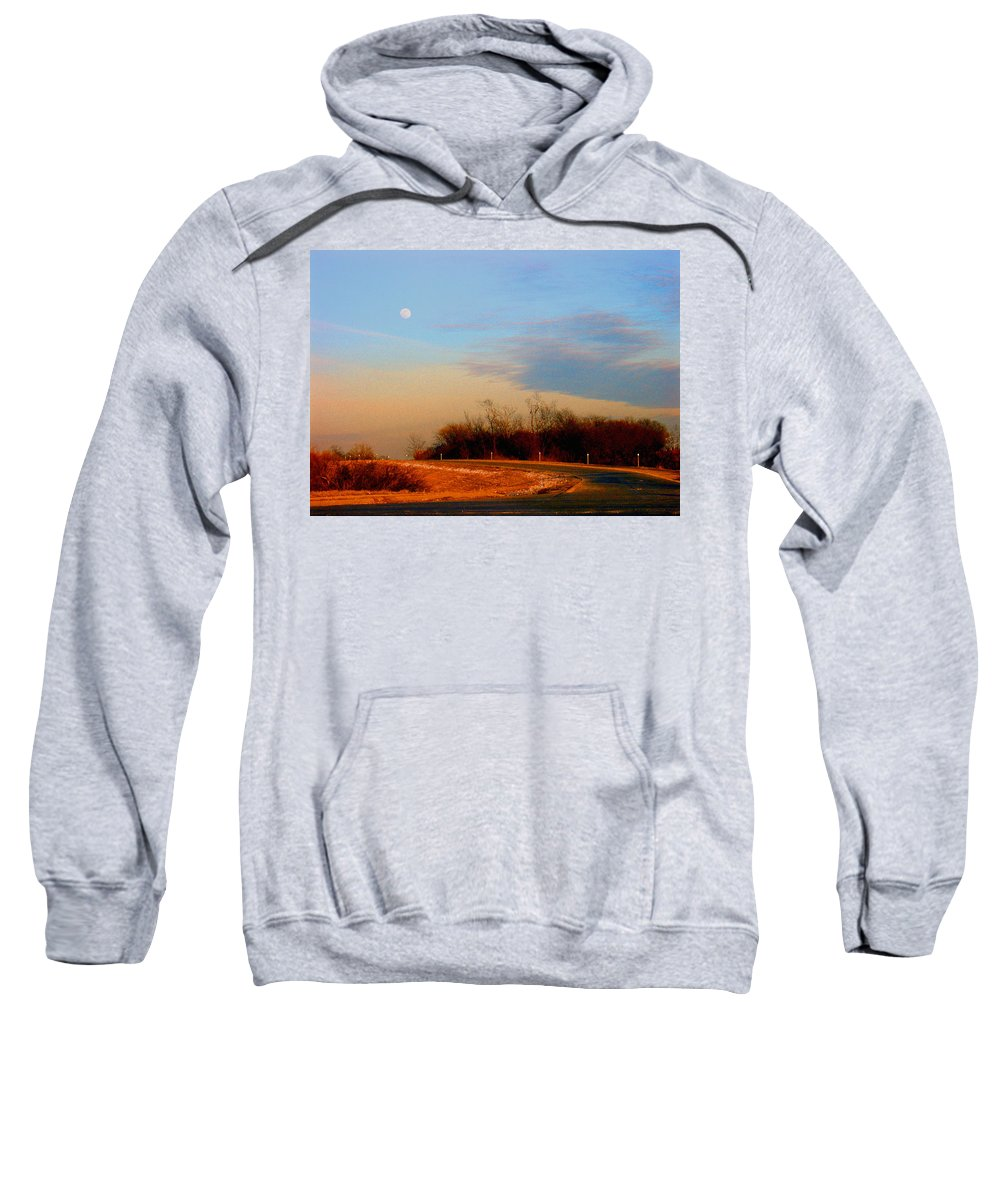 Landscape Sweatshirt featuring the photograph The On Ramp by Steve Karol