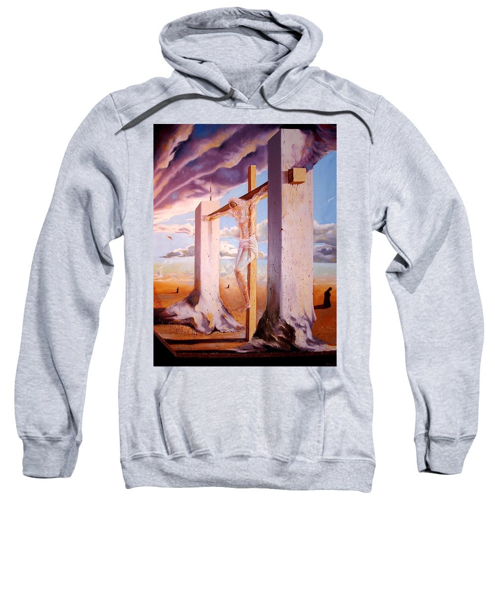 911 Sweatshirt featuring the painting The Pain Holder by Darwin Leon
