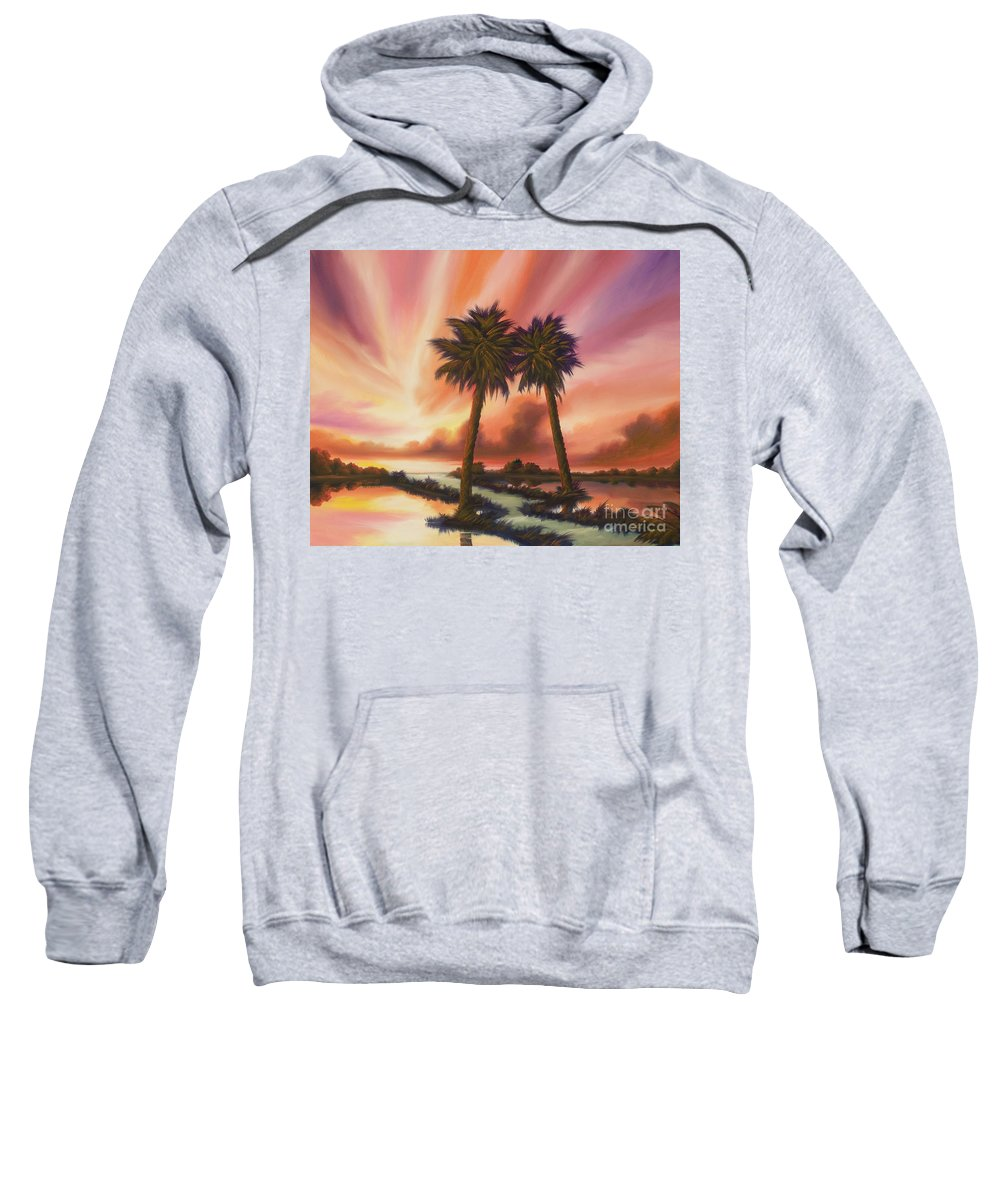 Skyscape Sweatshirt featuring the painting The Path Ahead by James Christopher Hill