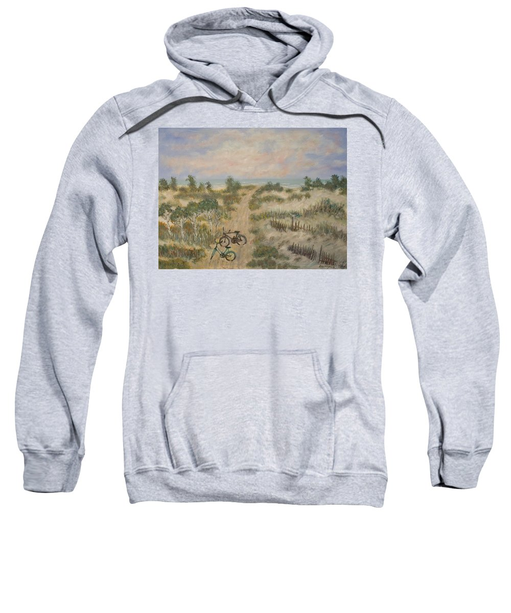 Beach Sweatshirt featuring the painting The Path by Ben Kiger