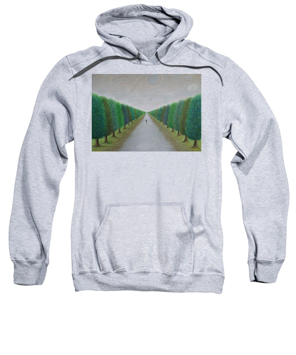 Path Sweatshirt featuring the painting The Path by Lynet McDonald