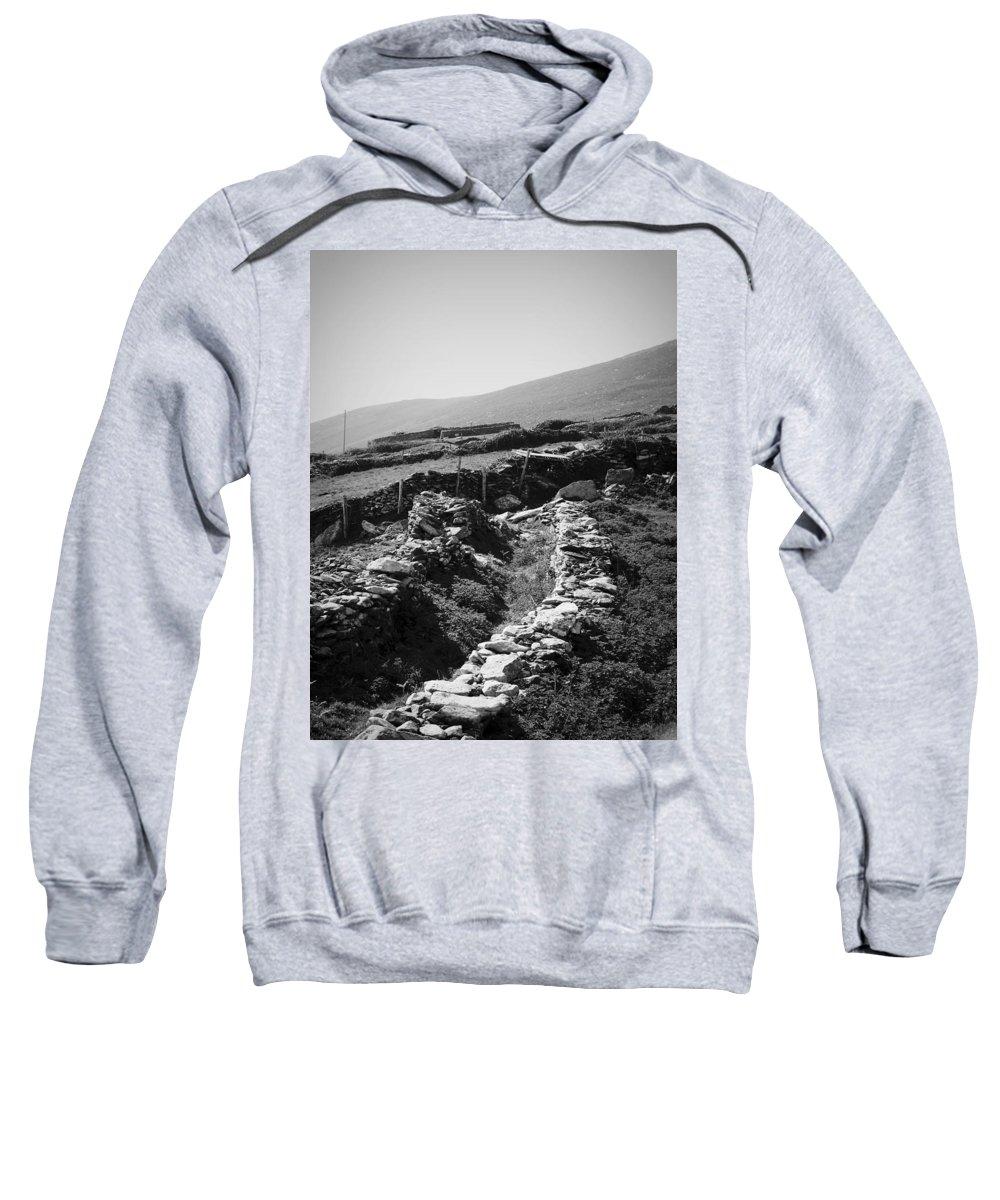 Irish Sweatshirt featuring the photograph The Path To The Beehive Huts In Fahan Ireland by Teresa Mucha