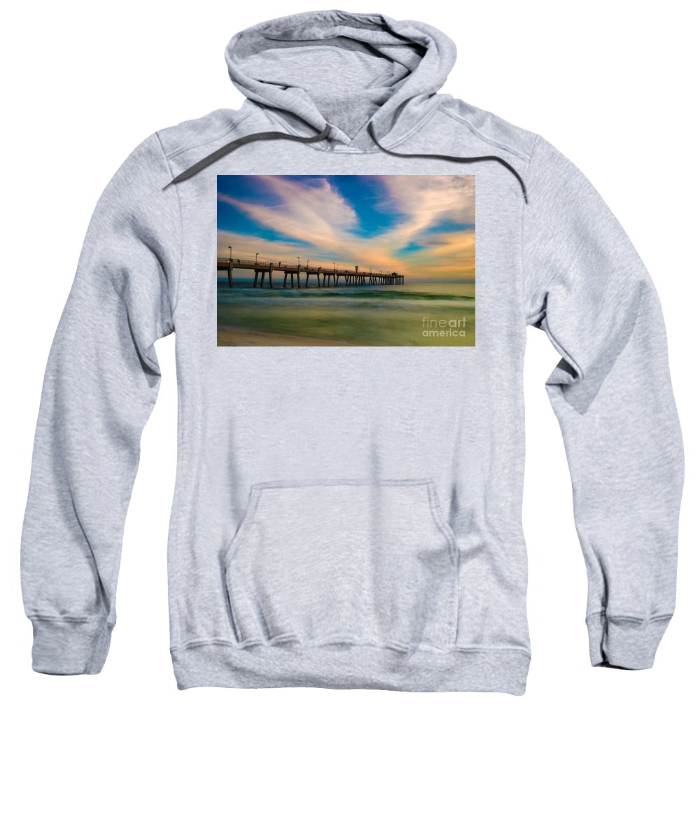 Pier Sweatshirt featuring the photograph The Pier by Gaby Swanson