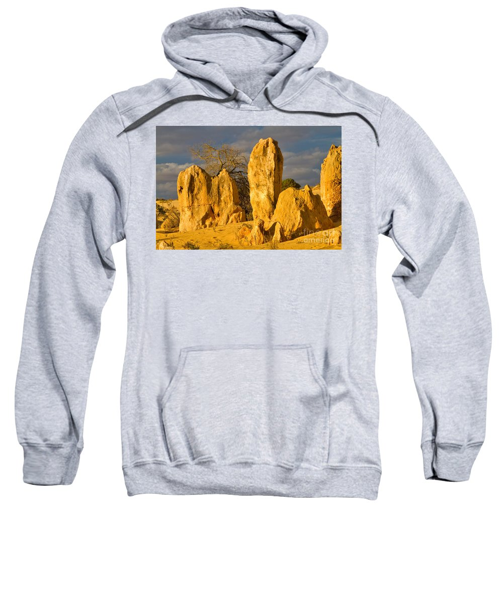 Travel Sweatshirt featuring the photograph The Pinnacles Nambung National Park Australia by Louise Heusinkveld