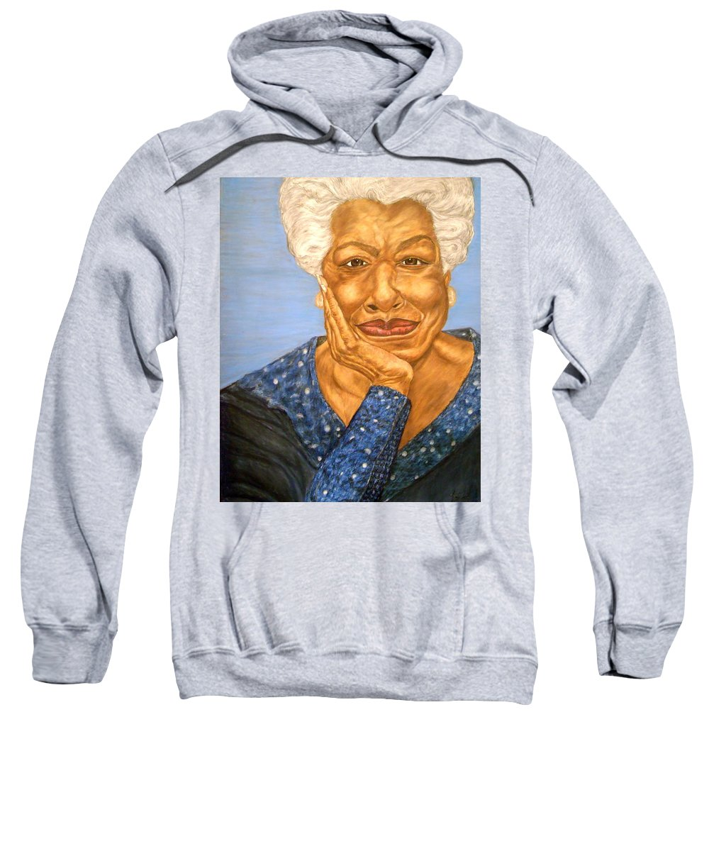 Portrait Sweatshirt featuring the painting The Poet by Arron Kirkwood