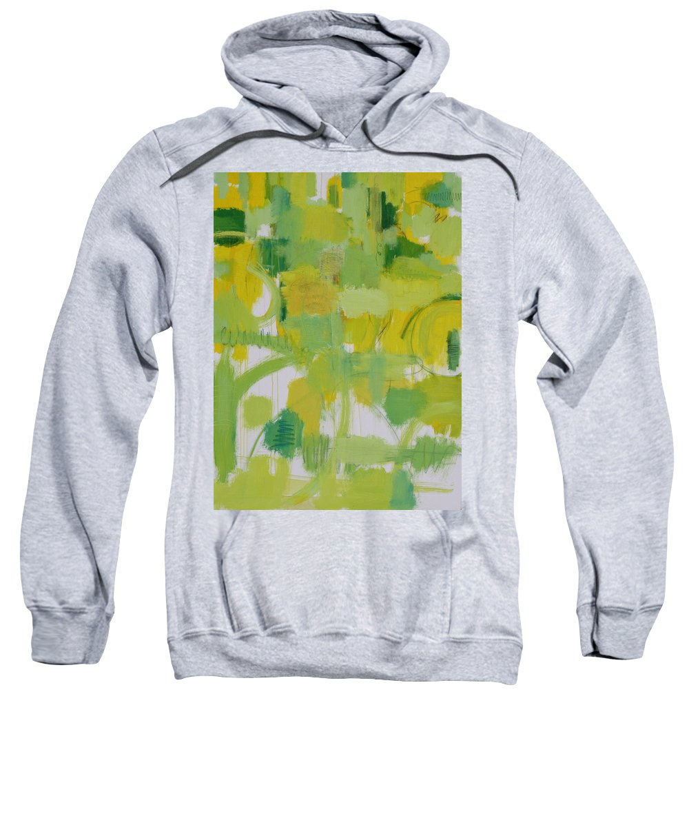 Abstract Sweatshirt featuring the painting The Power Of Green by Habib Ayat