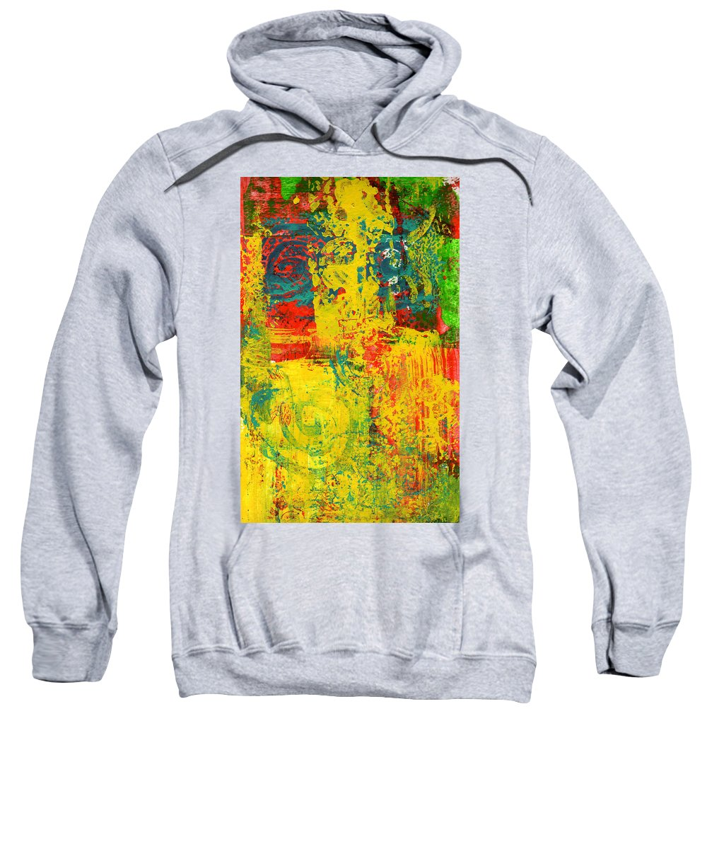 Abstract Sweatshirt featuring the painting The Power Within by Wayne Potrafka