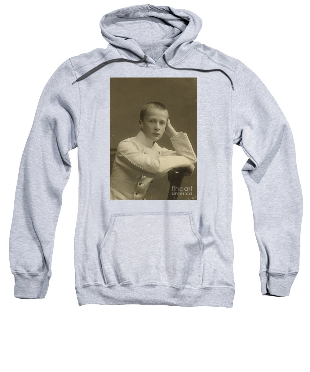 The Prince Oleg Konstantinovich Romanof Sweatshirt featuring the painting The Prince Oleg Konstantinovich by MotionAge Designs