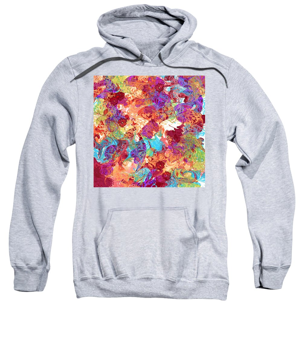 Abstract Sweatshirt featuring the digital art The Princess Dream by Rachel Christine Nowicki