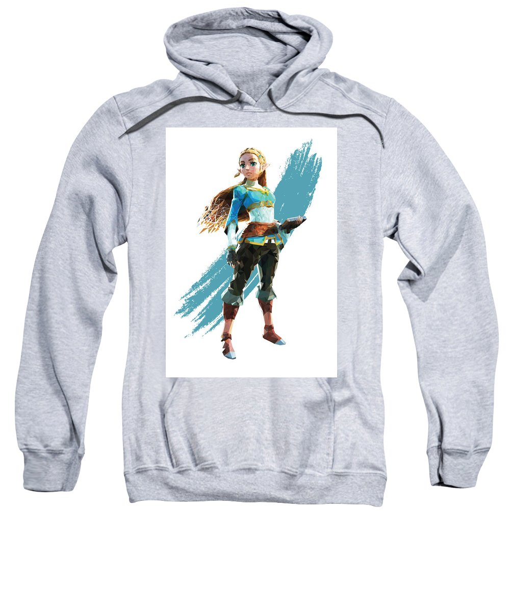 Princess Sweatshirt featuring the digital art The Princess Of Hyrule by MoonsAndCakes