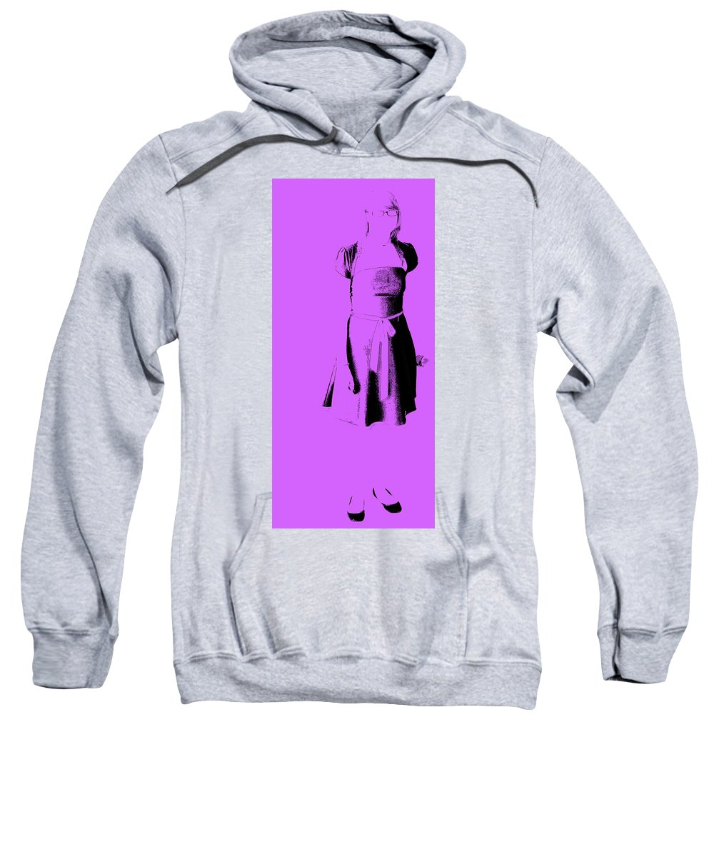 Dress Sweatshirt featuring the photograph The Purple Dress by Ed Smith