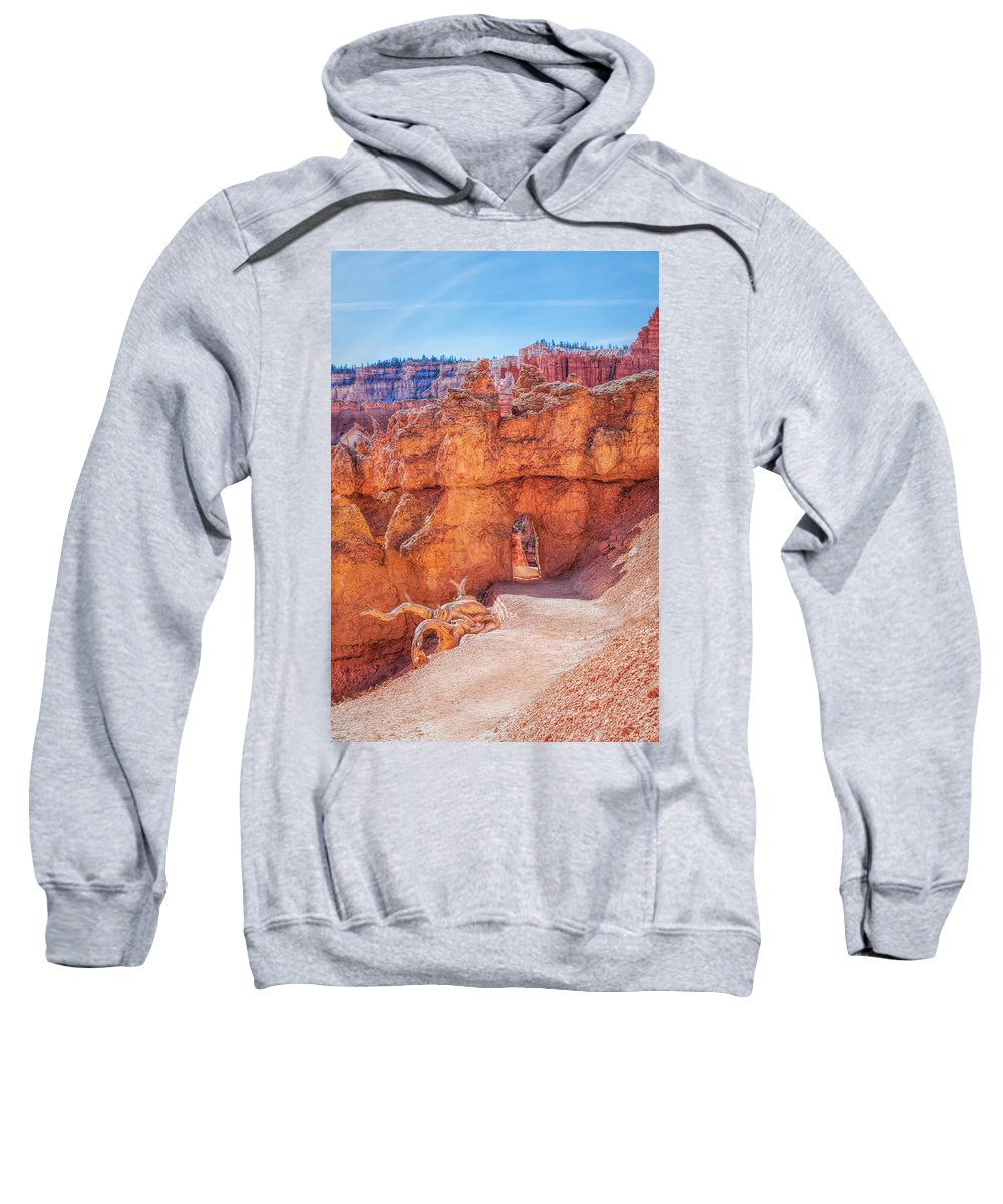 America Sweatshirt featuring the photograph The Queens Garden Trail by John M Bailey