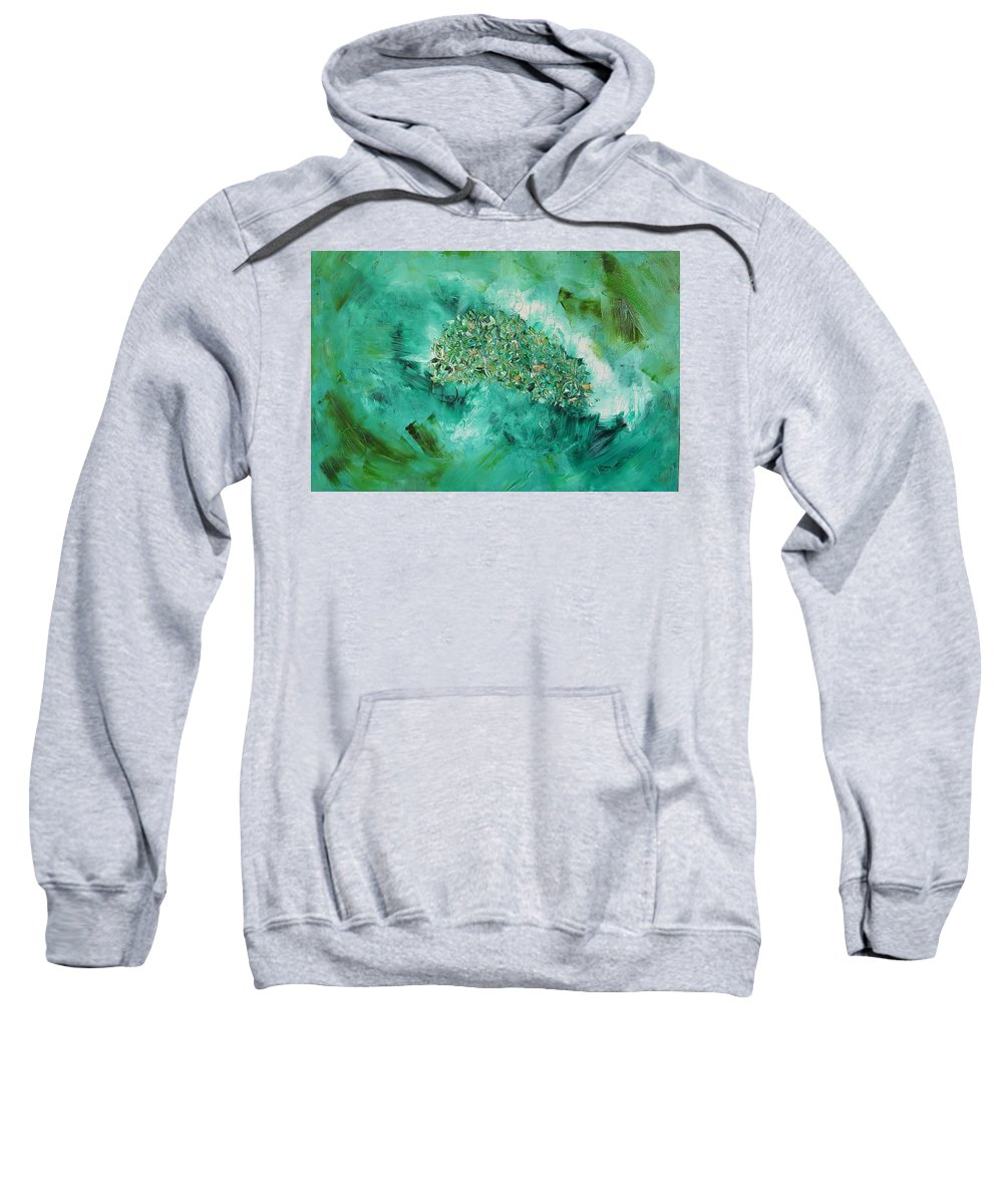 Question Sweatshirt featuring the painting The Question by Dawn Hough Sebaugh