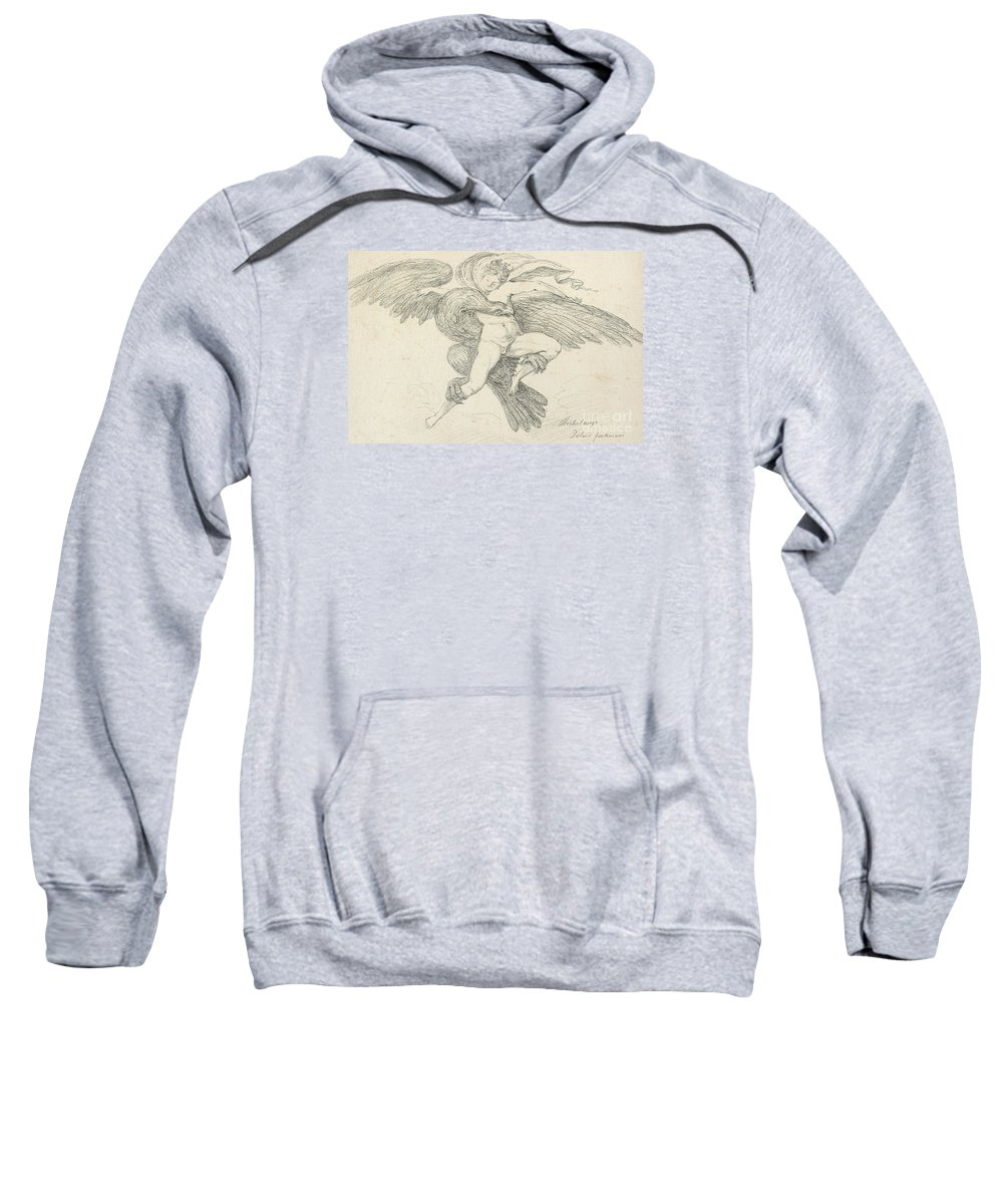 Rape Sweatshirt featuring the drawing The Rape Of Ganymede by Jean-Honore Fragonard