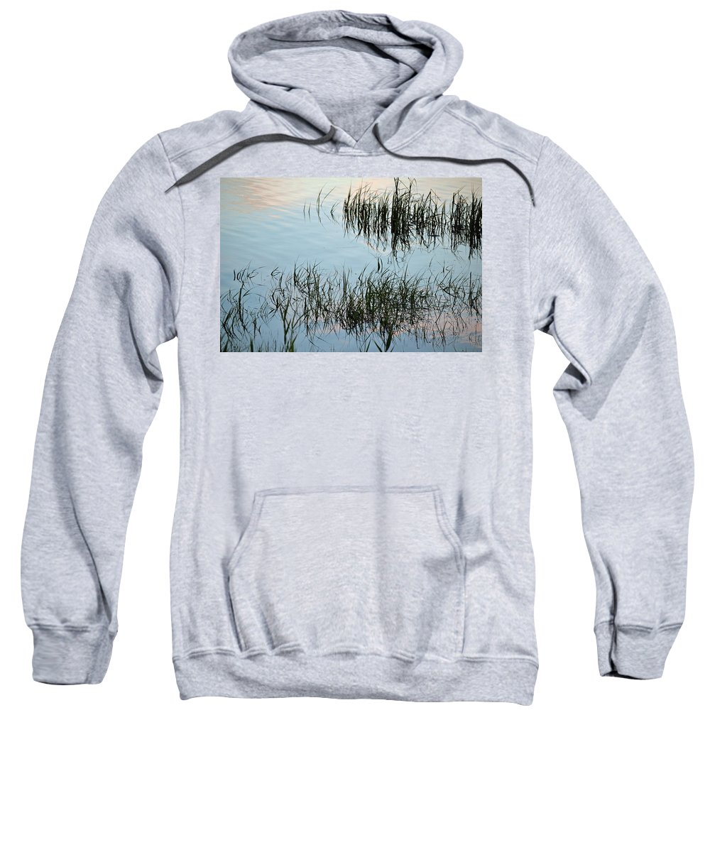 Reeds Sweatshirt featuring the photograph The Reeds by Michael Hills