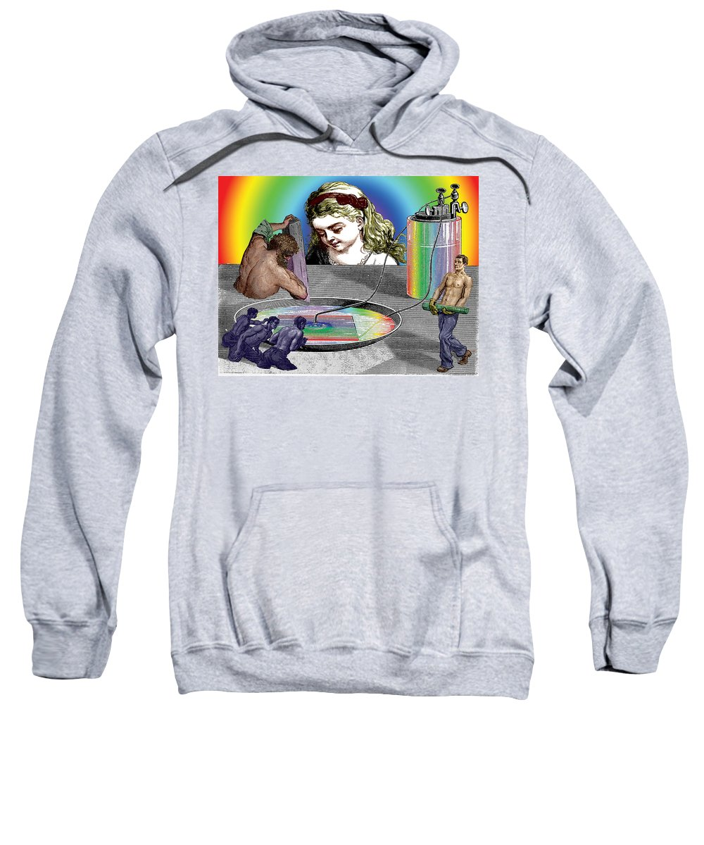 Alice Sweatshirt featuring the digital art The Ring Of Invention by Eric Edelman