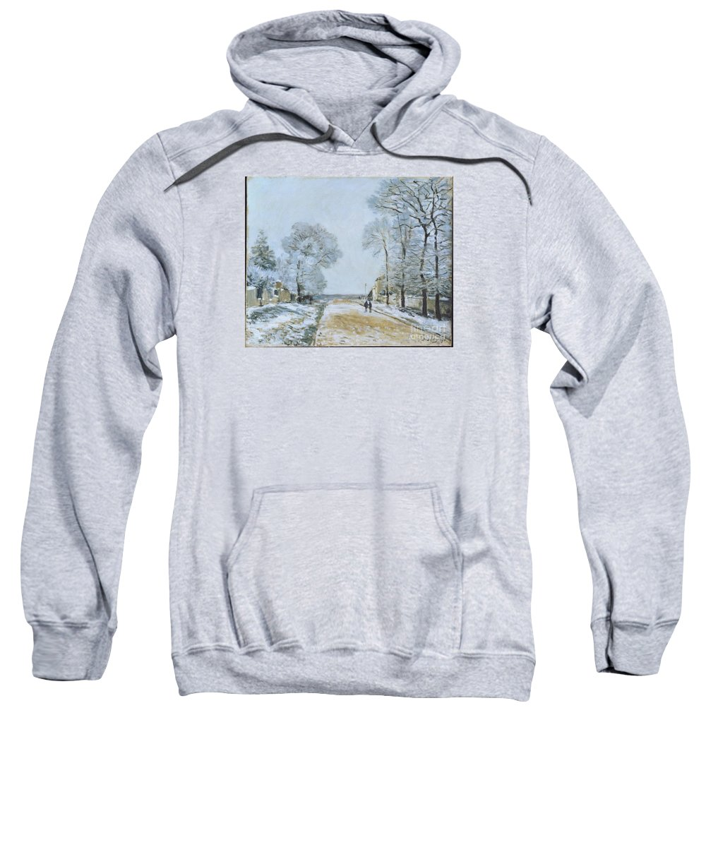 The Road Sweatshirt featuring the painting The Road, Snow Effect by MotionAge Designs