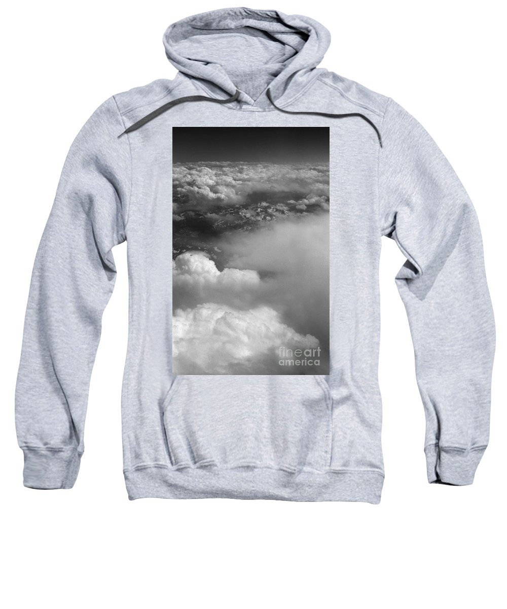 Aerial Photography Sweatshirt featuring the photograph The Rockies by Richard Rizzo