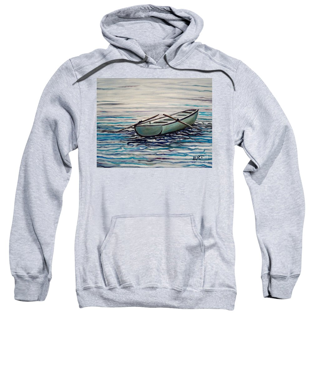 Water Sweatshirt featuring the painting The Row Boat by Elizabeth Robinette Tyndall