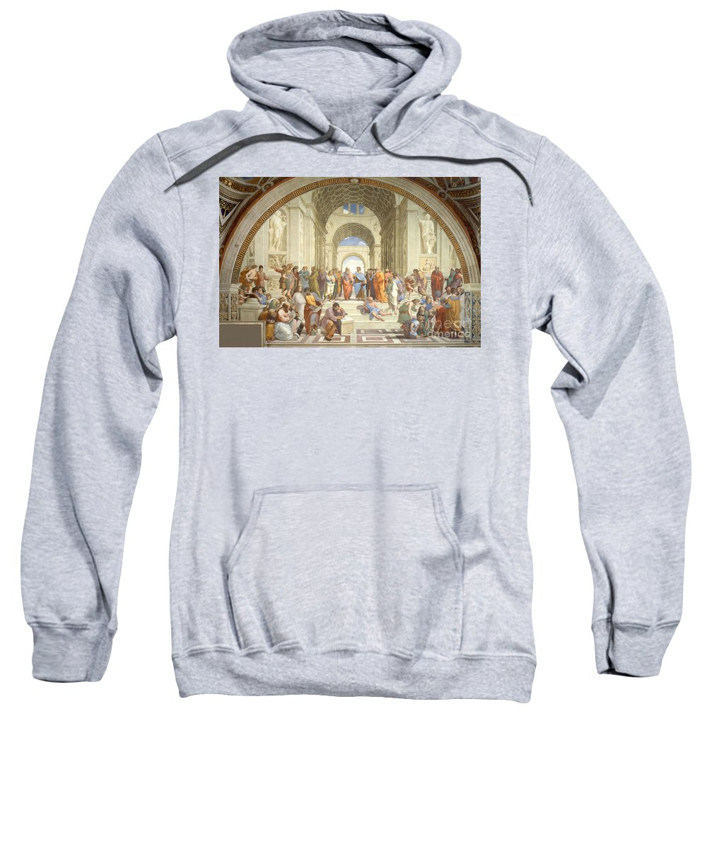 Science Sweatshirt featuring the photograph The School Of Athens, Raphael by Science Source