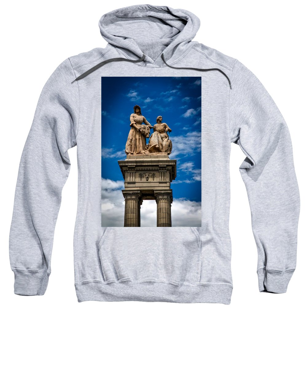 Agriculture Sweatshirt featuring the photograph The Sculpture Agriculture by Mountain Dreams