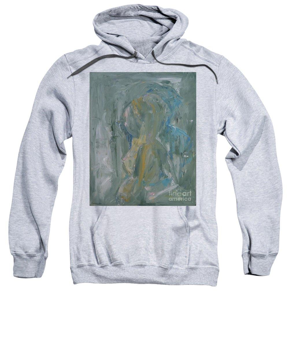 Expressionism Sweatshirt featuring the painting The Secret by Dorota Zukowska