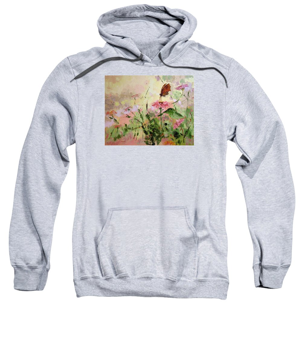 Butterflies Sweatshirt featuring the painting The Seeker by Ginger Concepcion