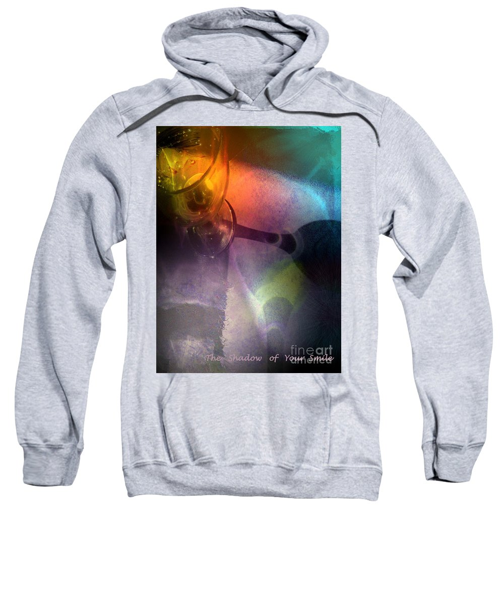 Fantasy Sweatshirt featuring the painting The Shadow Of Your Smile by Miki De Goodaboom