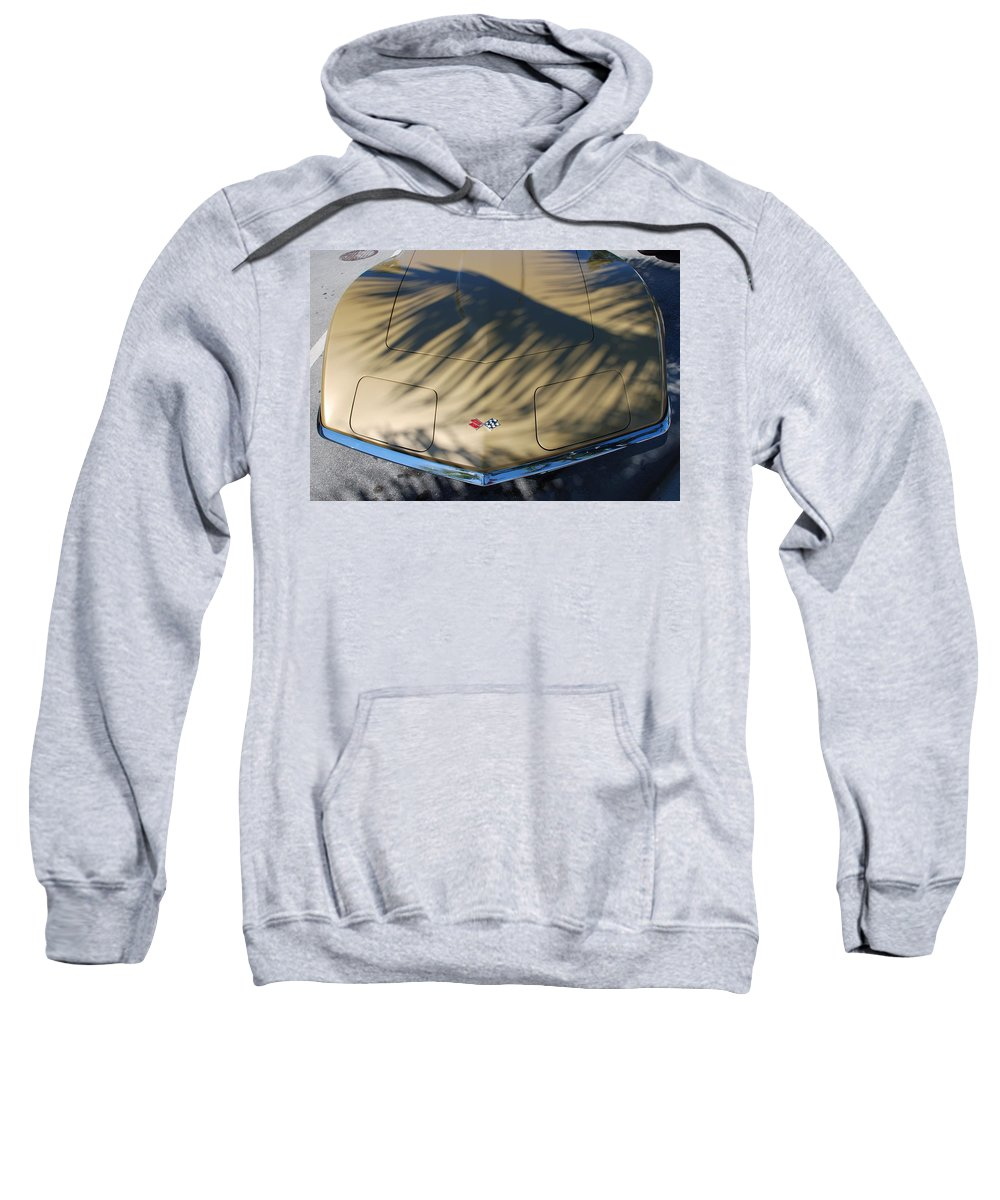 Corvette Sweatshirt featuring the photograph The Shadow Vette by Rob Hans