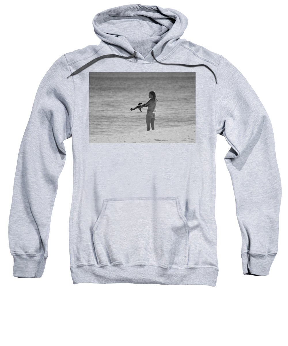 Black And White Sweatshirt featuring the photograph The Shirt by Rob Hans