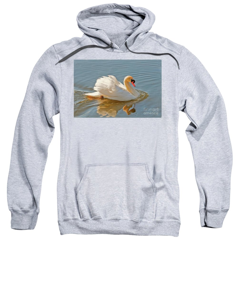 Swan Sweatshirt featuring the photograph The Show Off by Lois Bryan