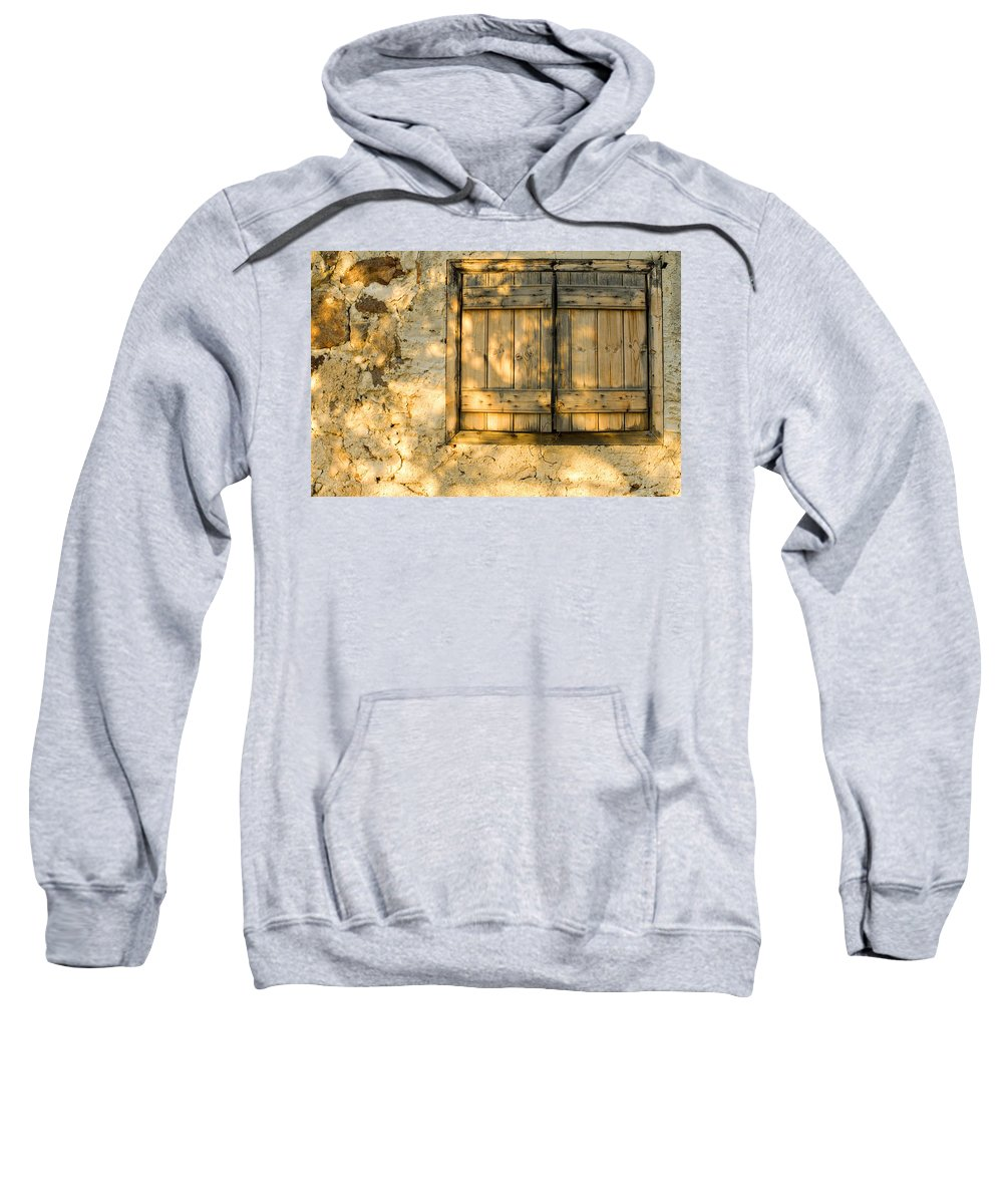 Window Sweatshirt featuring the photograph The Simple Life by Meirion Matthias