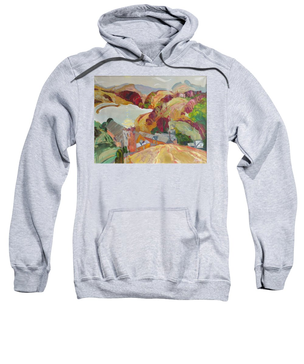 Oil Sweatshirt featuring the painting The Slovechansk Edge by Sergey Ignatenko
