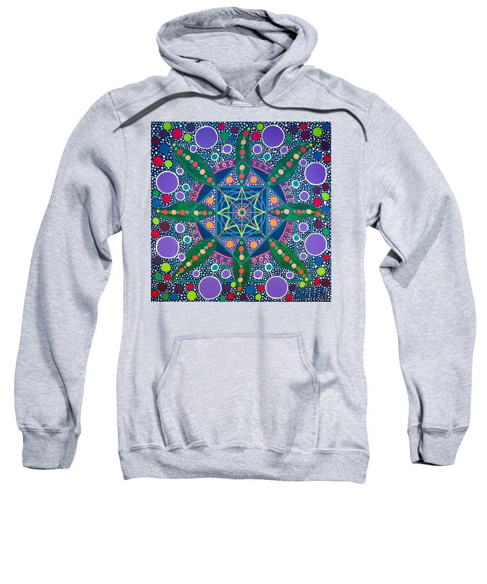 Geometry Sweatshirt featuring the painting The Sound Of A Germinating Seed by Howard Charing