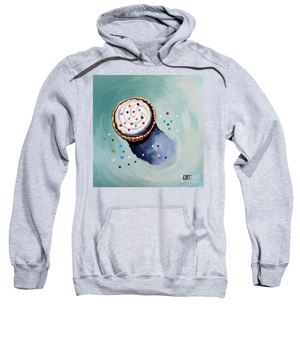 Cupcake Sweatshirt featuring the painting The Sprinkled Cupcake by Elizabeth Robinette Tyndall