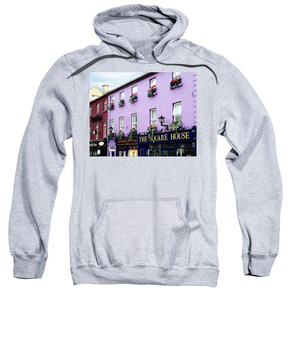 Irish Sweatshirt featuring the photograph The Square House Athlone Ireland by Teresa Mucha