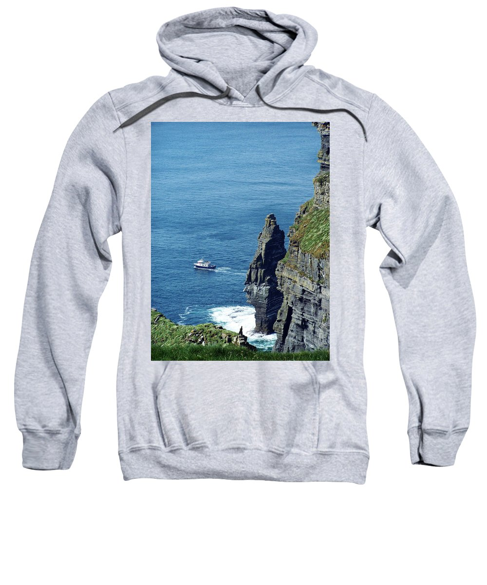 Irish Sweatshirt featuring the photograph The Stack And The Jack B Cliffs Of Moher Ireland by Teresa Mucha