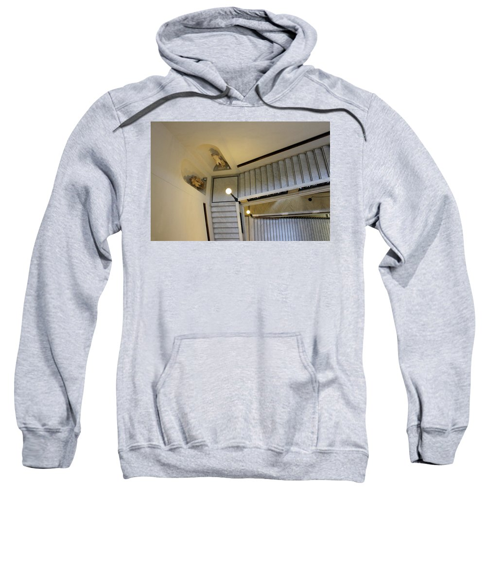 Rome Sweatshirt featuring the photograph The Stairs To Museum by Munir Alawi