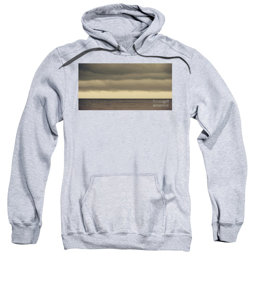 Ocean Sweatshirt featuring the photograph The Storm Came With Fury by Dana DiPasquale